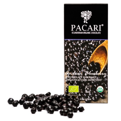 Pacari Andean Blueberry Chocolate Bar