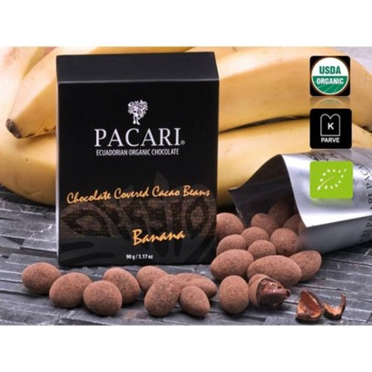 Pacari Chocolate Covered Cacao Beans - Banana Flavor