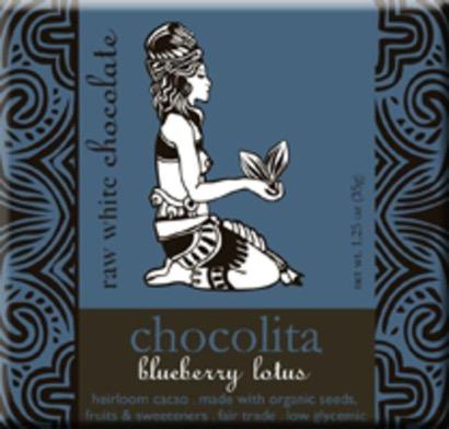 Chocolita Organic Raw White Chocolate Blueberry Lotus