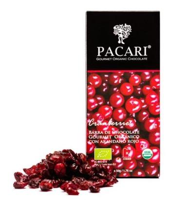 Pacari Cranberry Chocolate Bar