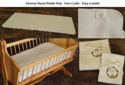 Holy Lamb Organics Puddle Pad Moisture Barrier for the Cradle & Bassinet