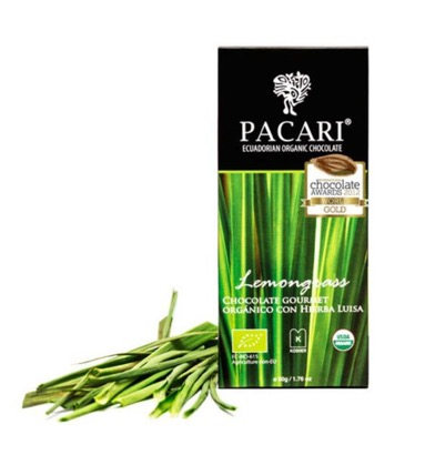 Pacari Lemongrass Chocolate Bar