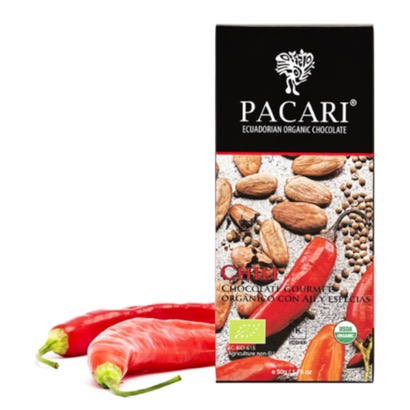 Pacari Merken Chili Chocolate Bar
