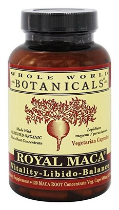 Whole World Botanicals Organic Royal Maca 120 Veg Cap