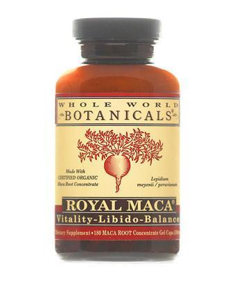 Whole World Botanicals Organic Royal Maca 180 Gel Cap