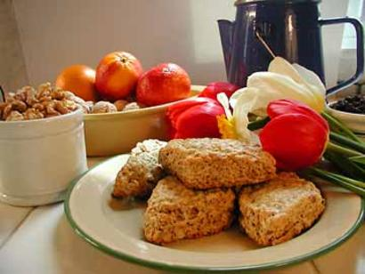 MaryJanesFarm Organic Scones w/Walnuts and Orange Peel