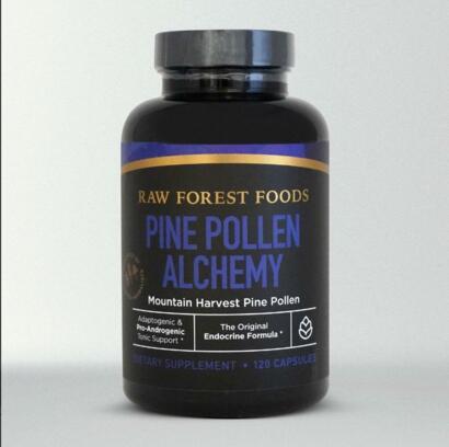 Raw Forest Foods Pine Pollen Alchemy Capsules: The Original Endocrine Formula