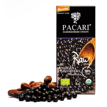 Pacari Raw 70% Cacao with Andean Blueberry Chocolate Bar