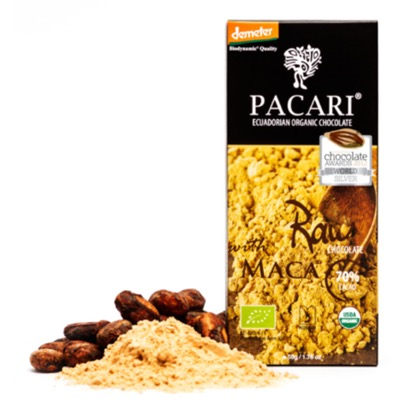 Pacari Raw 70% Cacao with Maca Chocolate Bar