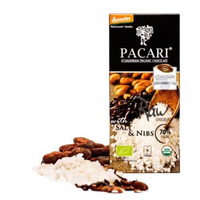 Pacari Raw 70% Cacao with Salt and Nibs Chocolate Bar
