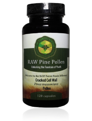Raw Forest Foods Raw Pine Pollen Caps