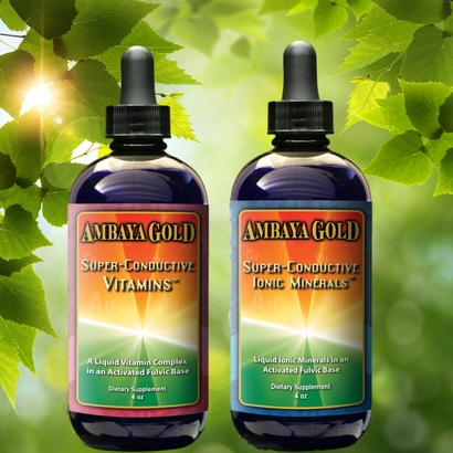 Ambaya Gold Super Conductive Ionic Minerals & Vitamins - Bundle