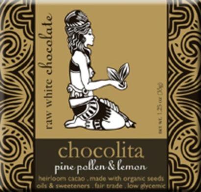 Chocolita Raw White Chocolate Pine Pollen & Lemon